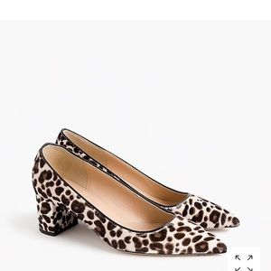 New J Crew Avery calf hair leopard pumps 8.5